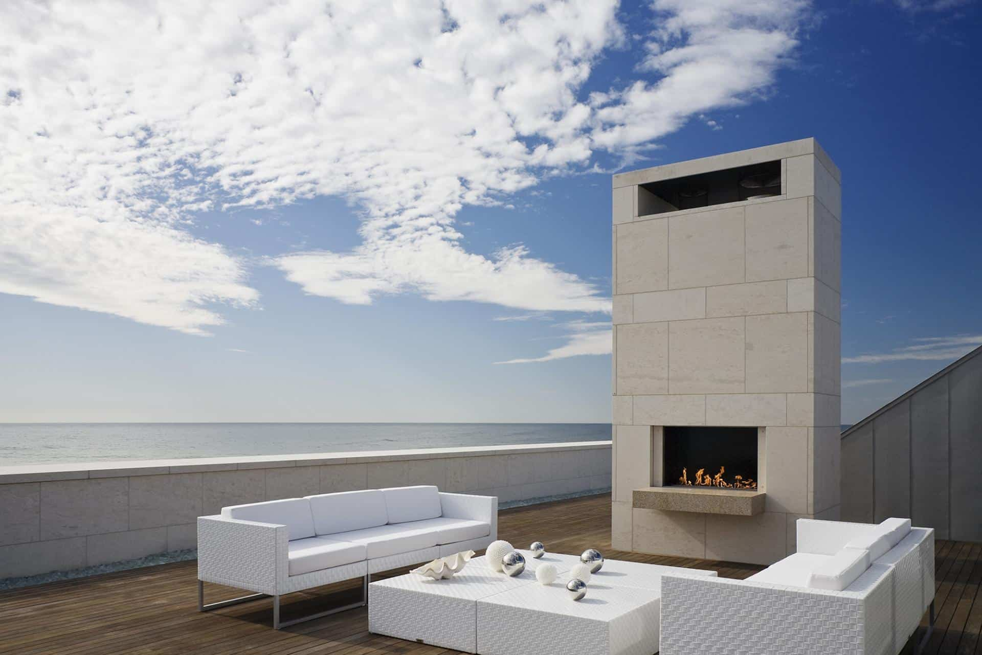 Oceanside Home Has Teak Walls A Pool And Rooftop Fireplace