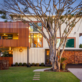 Artsy 3-Storey Home Built from 31 Shipping Containers