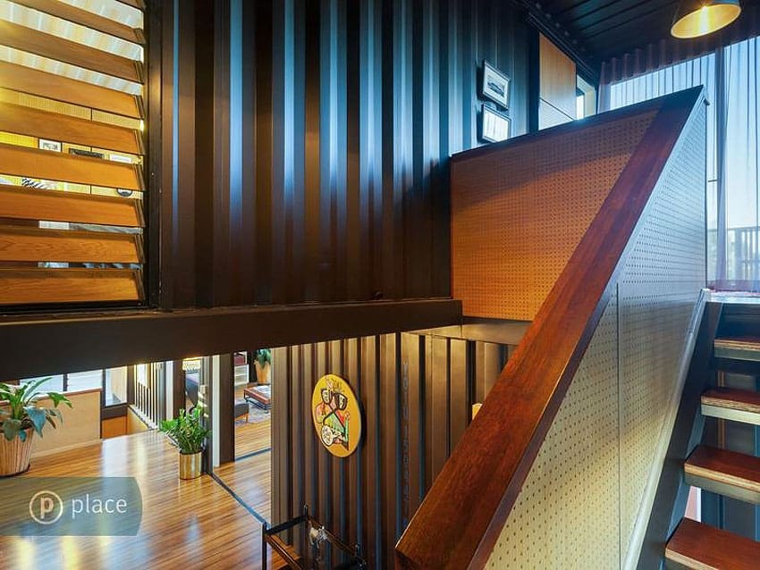 View In Gallery Artsy 3 Storey Home Built 31  Shipping Containers