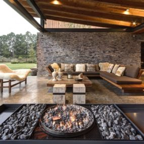 Modern-day Hacienda with Stone Walls