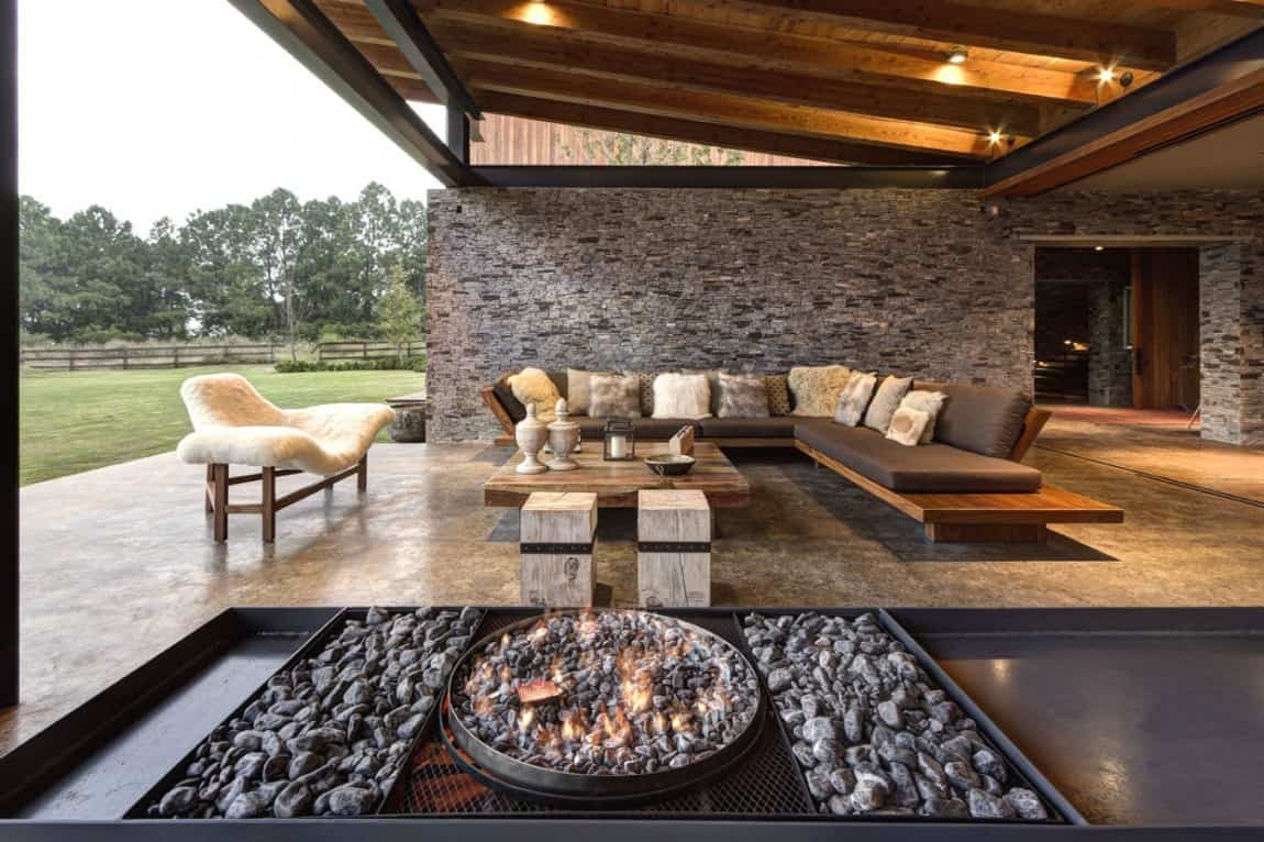 Modern Day Hacienda Stone Walls