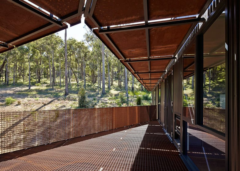 Elegant View In Gallery Sustainable House Stilts Accessed Steel Ramps 11 Balcony.