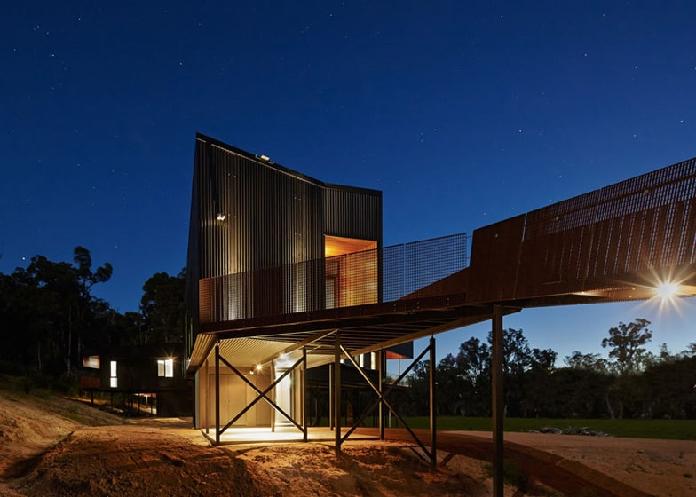 Sustainable House Stilts Accessed Steel Ramps