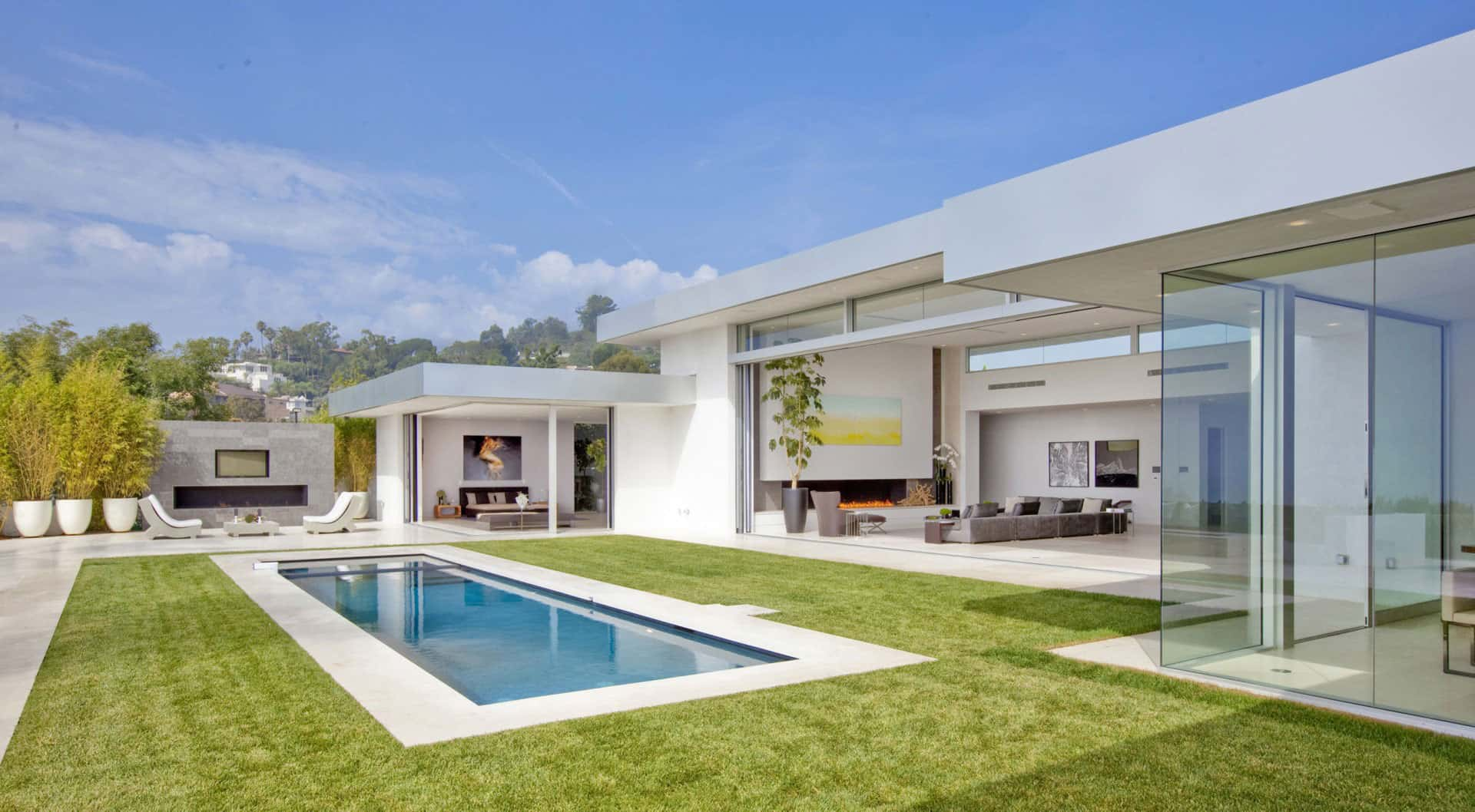 70s home transformed into modern beverly hills masterpiece for Contemporary mansions
