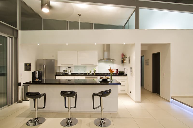 view in gallery 2 adjustable eaves create thermal comfort glass house - Kitchen House Design