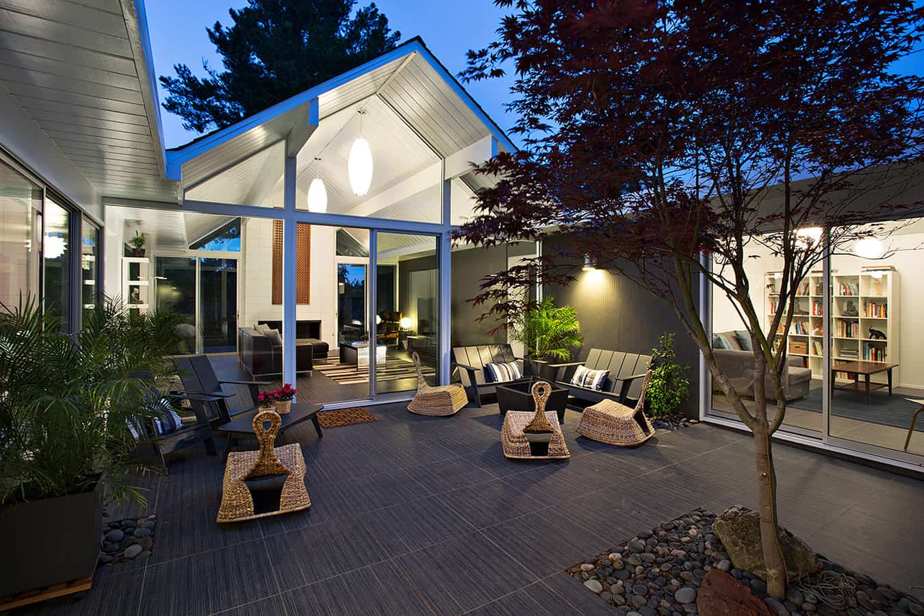 Interior Courtyard Surrounded by 4 Gables: House by Klopf ... on Interior:ybeqvfpgwcq= Modern House Ideas  id=25452