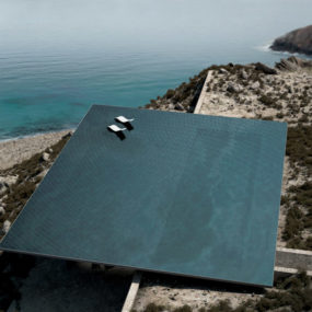 Rooftop Pool and Earth Create Thermal Cooling for Hidden Home