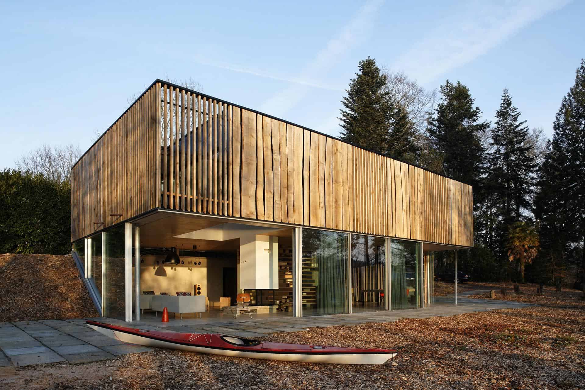Living Edge Wood clad House Surprises with Creativity