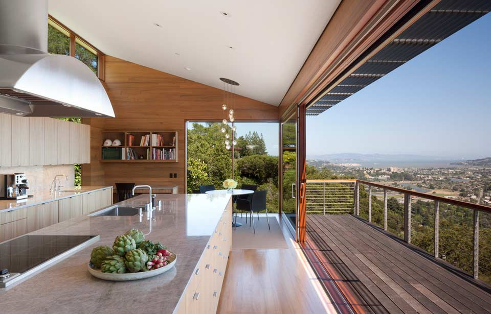 View In Gallery Slope House Living Roof Merges Hillside 7 Kitchen
