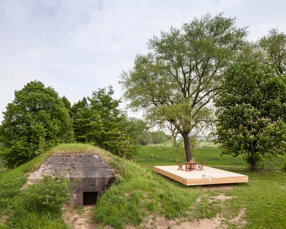 Tiny War Bunker Makes Unique Underground Home