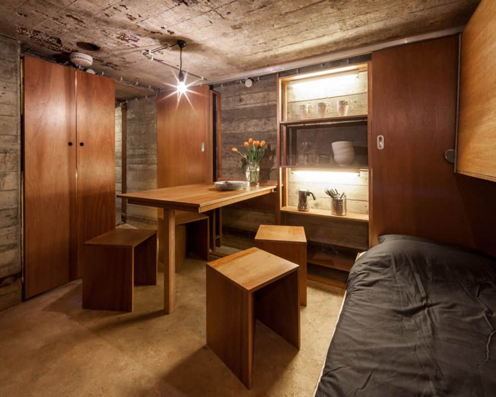 Tiny Home Designs: Tiny War Bunker Makes Unique Underground Home