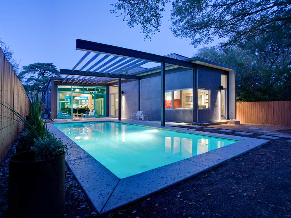 Swimming Pool Houses Designs natural indoor swimming pool design View In Gallery Stylishly Simple Modern 1 Story House 19jpg