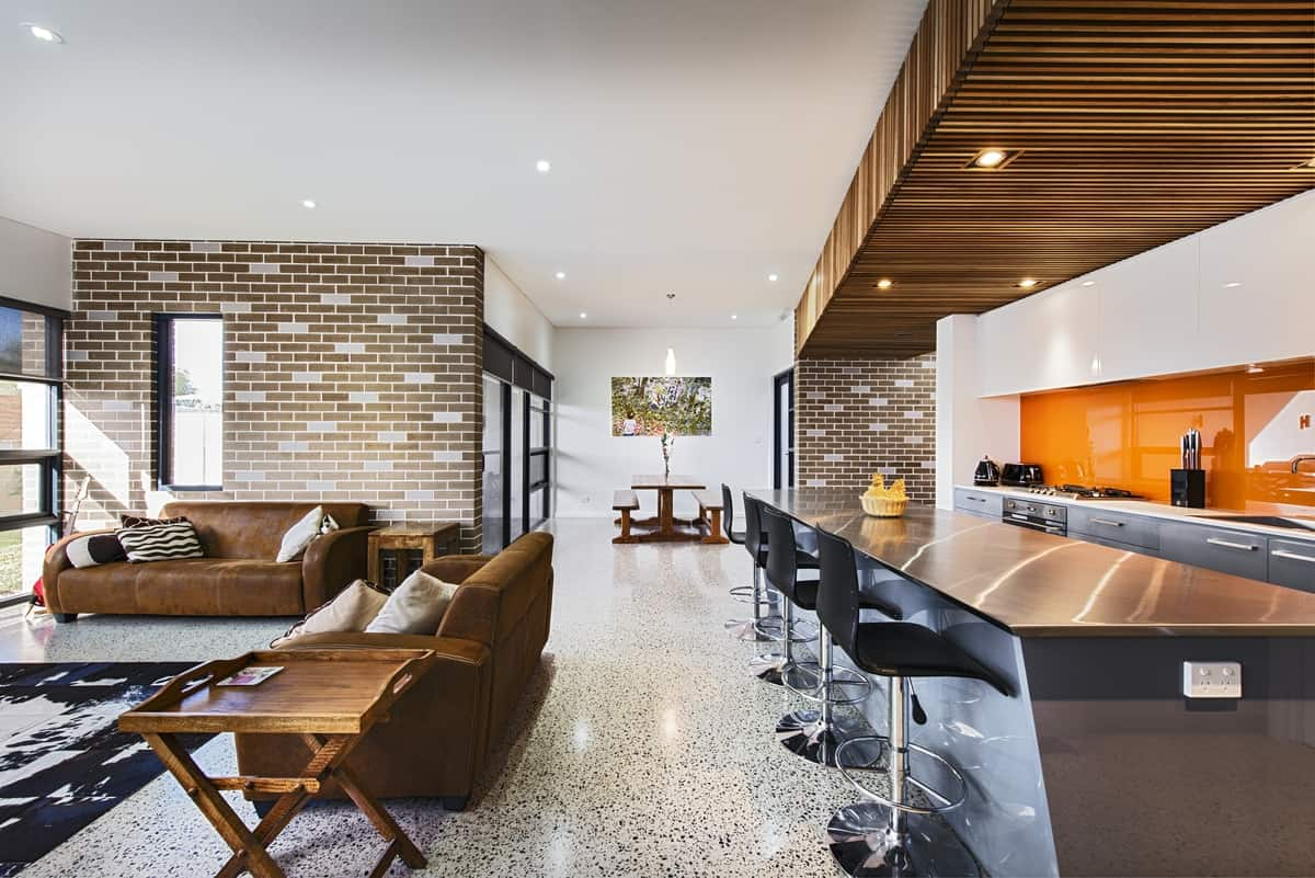 Superb View In Gallery House Decorated Brick Veneer Inside Out 3