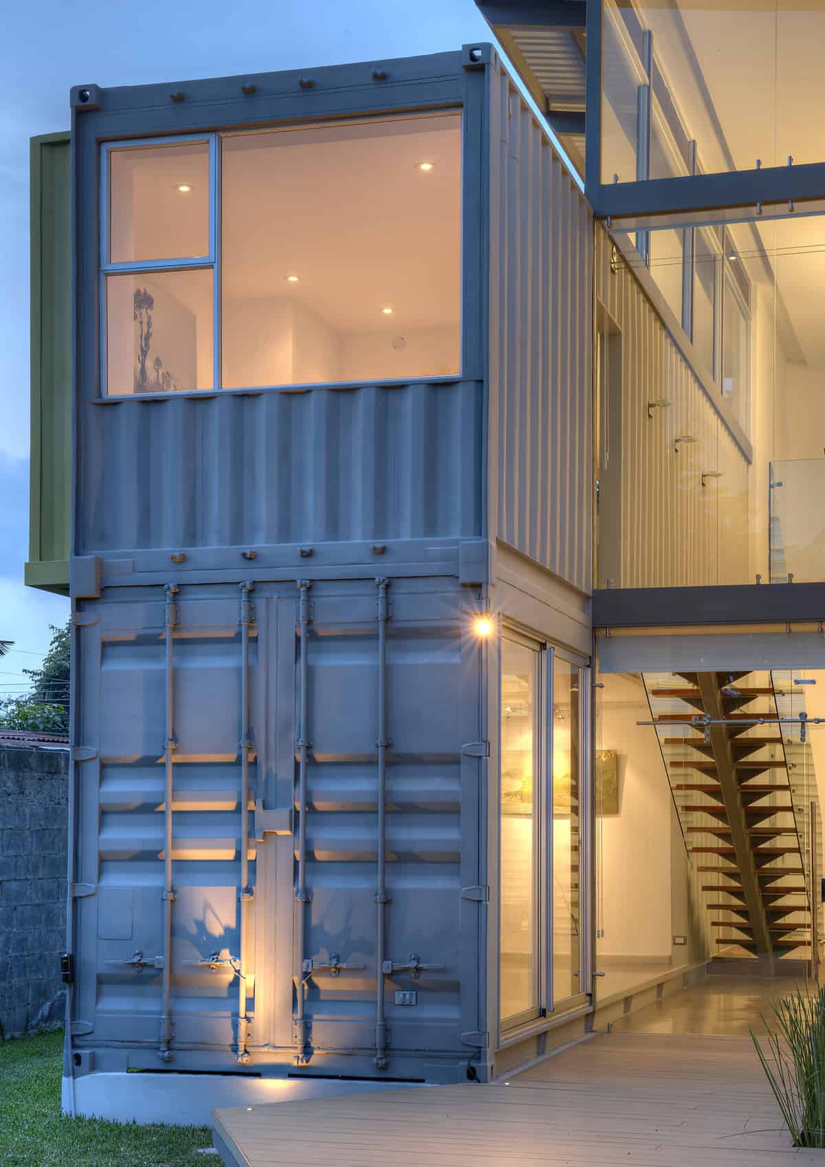 stunning-2-story-home-8-shipping-containers-14 I Shaped House Floor Plans on t ranch modular home plans, cedar home plans, horse barn home plans, modern u-shaped home plans, modern modular home plans, c shaped house plans, irregular shaped house floor plans, small l shaped home plans, triangle shaped house plans, l shaped garage plans, l-shaped range home plans, i shaped kitchens, l shaped kitchen floor plans, large barn home plans, post modern home plans, pie shaped lot house plans, h shaped house plans, v-shaped home plans, u-shaped floor plans, u-shaped courtyard home plans,