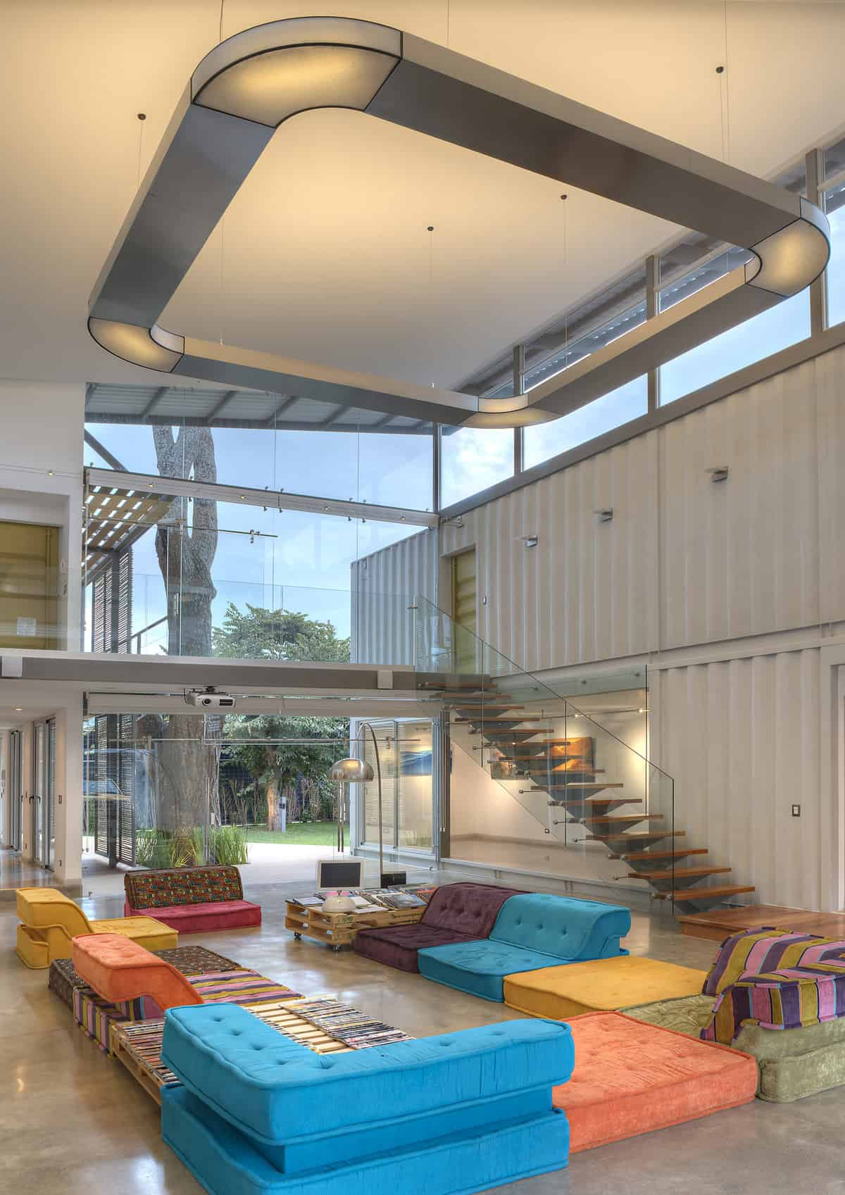 8 Shipping Containers Make Up a Stunning 2-Story Home  Modern House Designs