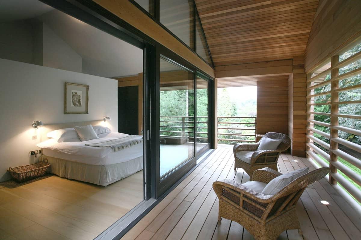 Award Winning Red Cedar Home Resonates With Treed Landscape - Award winning bedroom designs