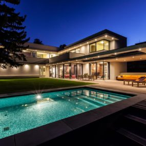 70s home transformed into modern beverly hills masterpiece for Modern day houses