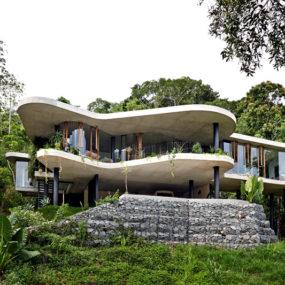 homes designs. 12 Architect And Interior Designer Build Their Fantasy Home In Tropical  Paradise Concrete Homes Designs Inspiration Photos Trendir
