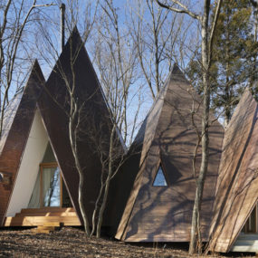 Timber House Mimics Tents to Make You Feel like You're Camping