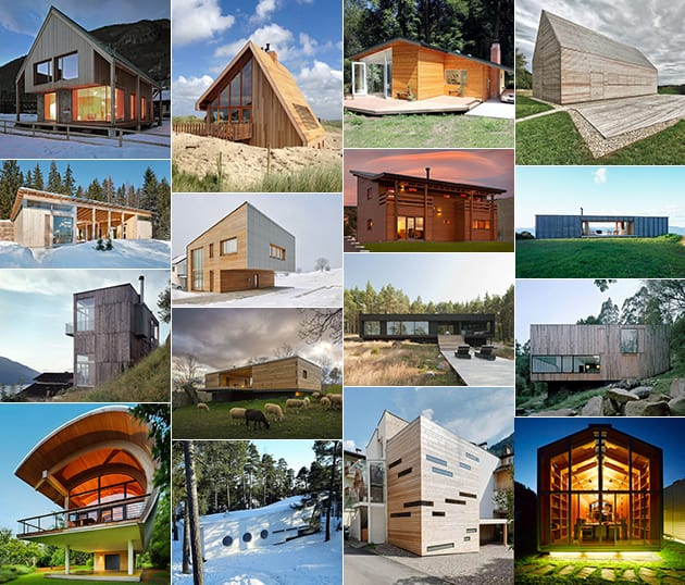 21 Most Unique Wood Home Decor Ideas: Small Wood Homes And Cottages: 16 Beautiful Design And