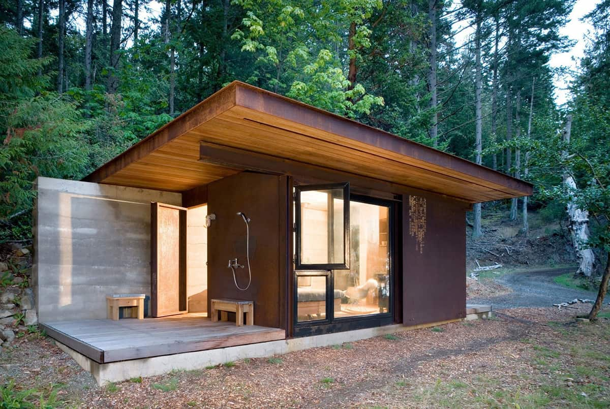 7 clever ideas for a secure remote cabin for One room log cabin designs