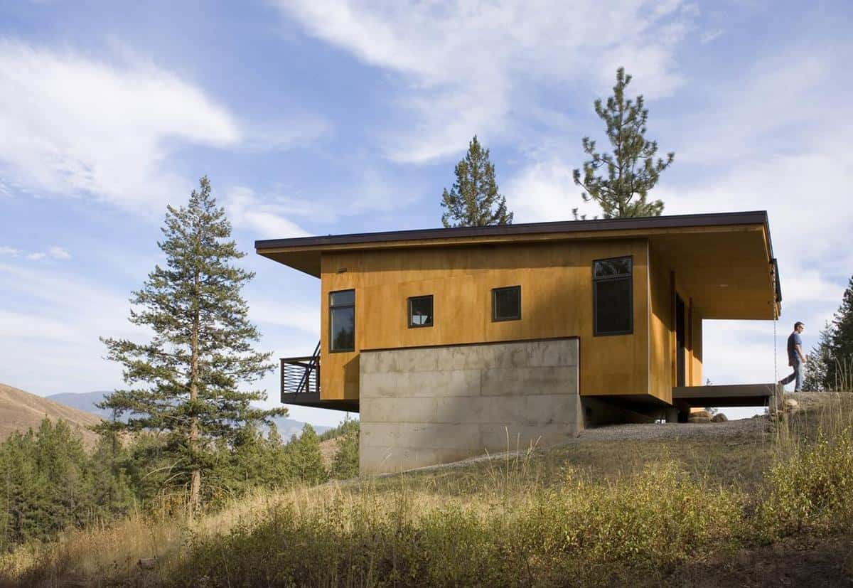 View in gallery small cabin built on budget elevated design 2