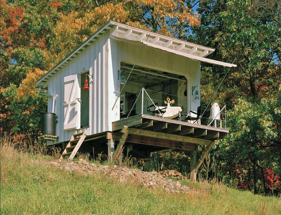 7 clever ideas for a secure remote cabin for Small lodge plans