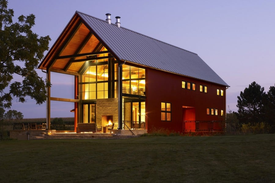 cabin barns weekend style site modern texas simple in embraces home apartment horseuilding smallarn metal floor small house barn thumb life the plans act houses