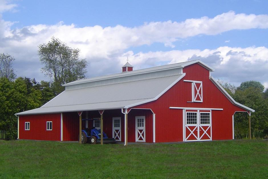 View In Gallery Red House Exteriors Paint The Town Real Barn