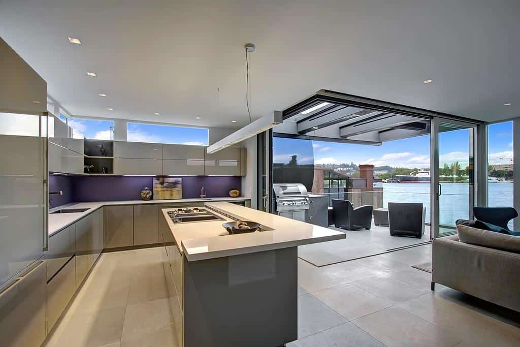 View In Gallery Floating Homes Interiors Modern Kitchen