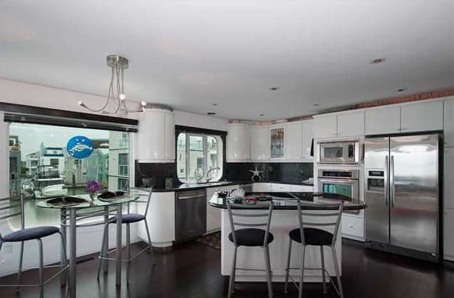View In Gallery Floating Home Interiors Ladner Lighthouse Kitchen
