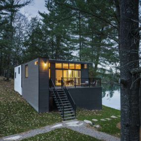 Prefab Lake Cottage with Cross Laminated Timber Construction