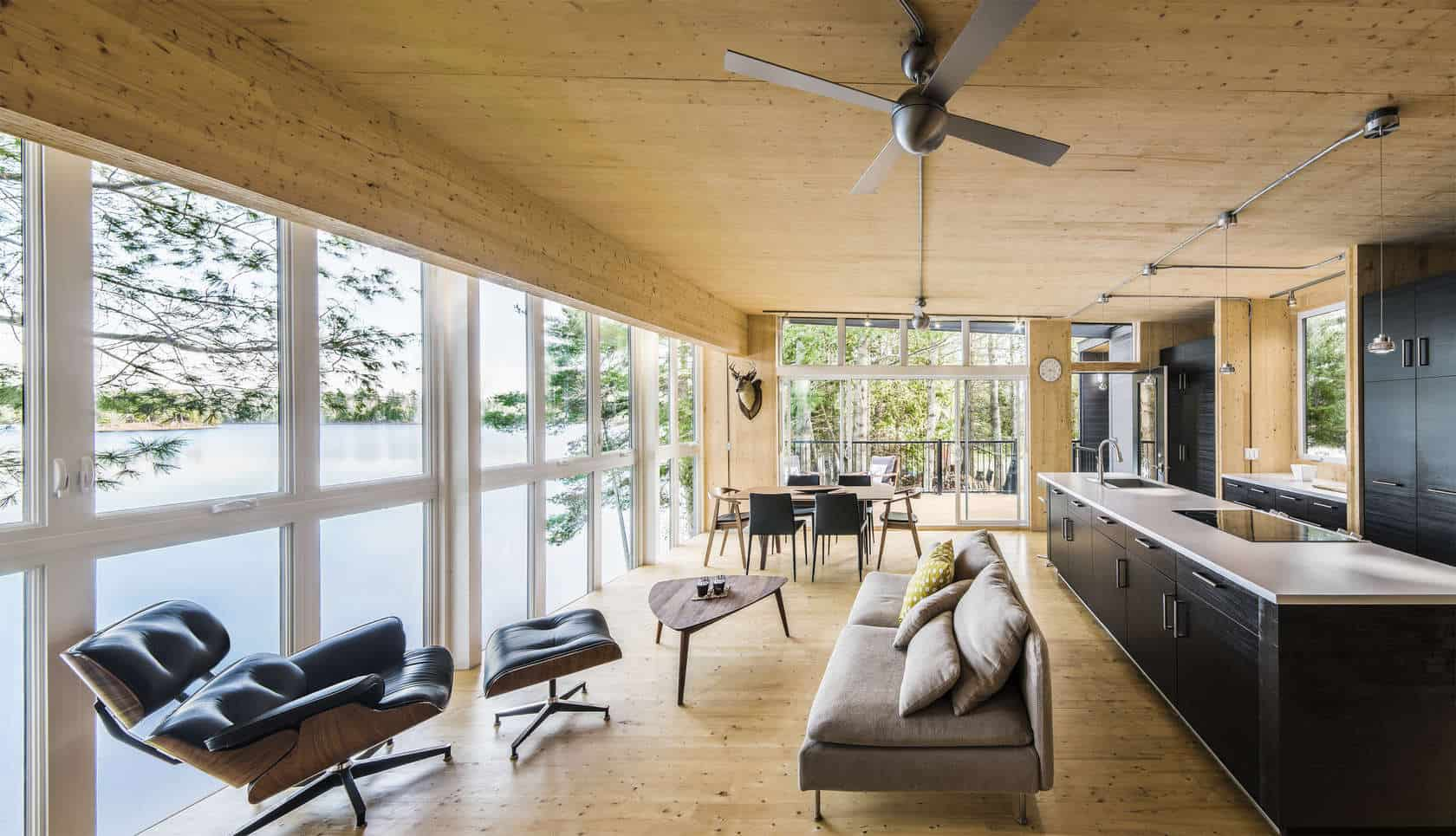 Prefab Lake Cottage With Cross Laminated Timber Construction on modern cottage design cross laminated wood