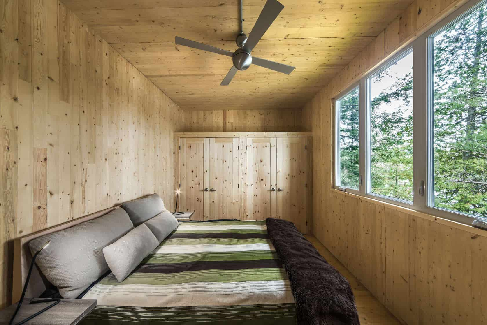 Prefab lake cottage with cross laminated timber construction for Prefab studio cottage