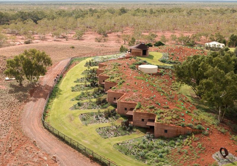 semi buried houses in australia rammed earth wall by luigi rosseli rh trendir com