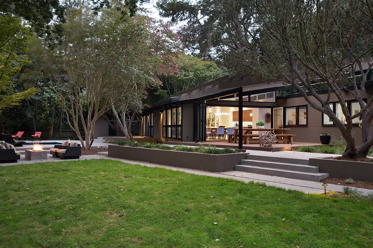 Mid century house remodel project by klopf architecture in for Small mid century modern home plans