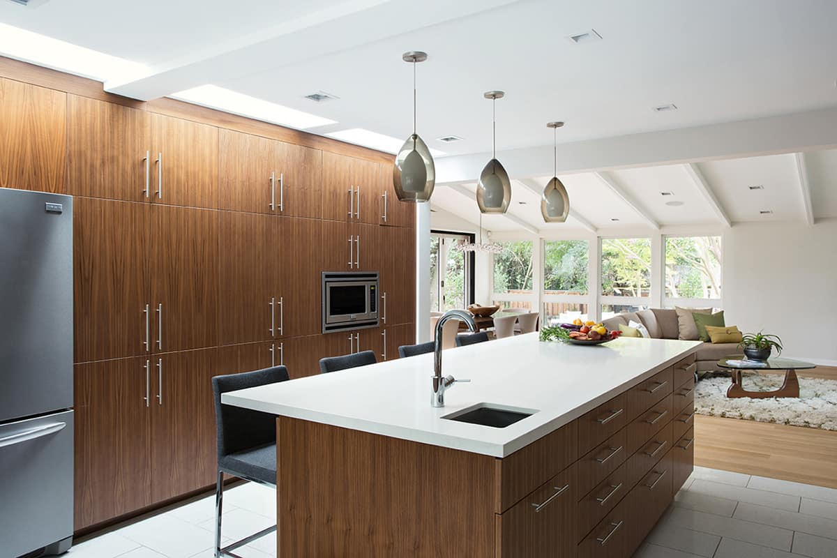 Simple View in gallery mid century house remodel