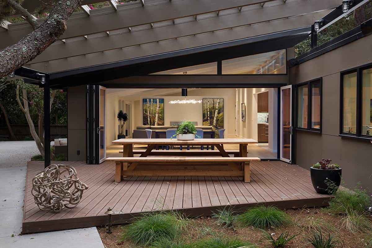 Mid Century House Remodel Project By Klopf Architecture In Bay Area Ca on Eichler Atrium Home Floor Plans