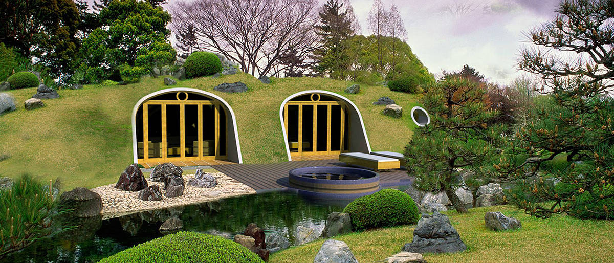 Prefab Modular Homes Designed To Be Covered With Grass