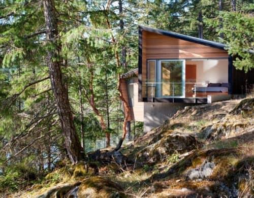 Waterside Home Design Features Custom Douglas-fir Millwork