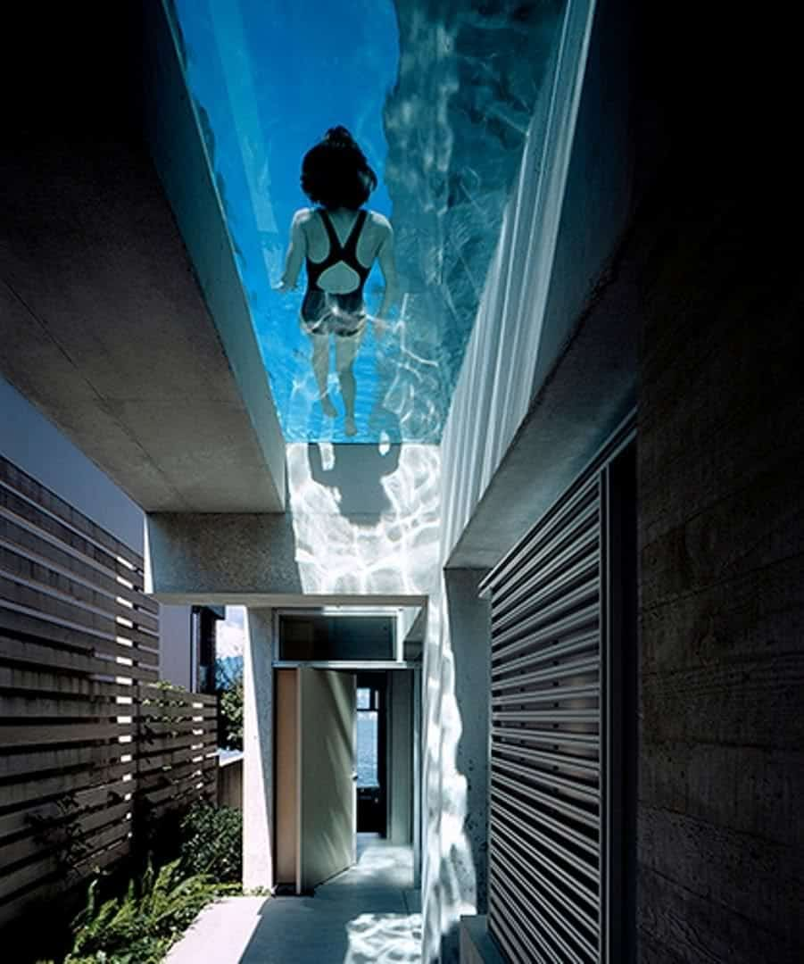 basement pool glass. Wonderful Basement Also Up High The Glass Bottom On This Canadian Swimming Pool Designed By  Petkau Architects Overlooks Main Entrance Of Home To Basement Pool Glass N