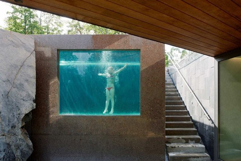 This See Through Swimming Pool By DAP Architects Appears To Be An Extension  Of The Natural Landscape.