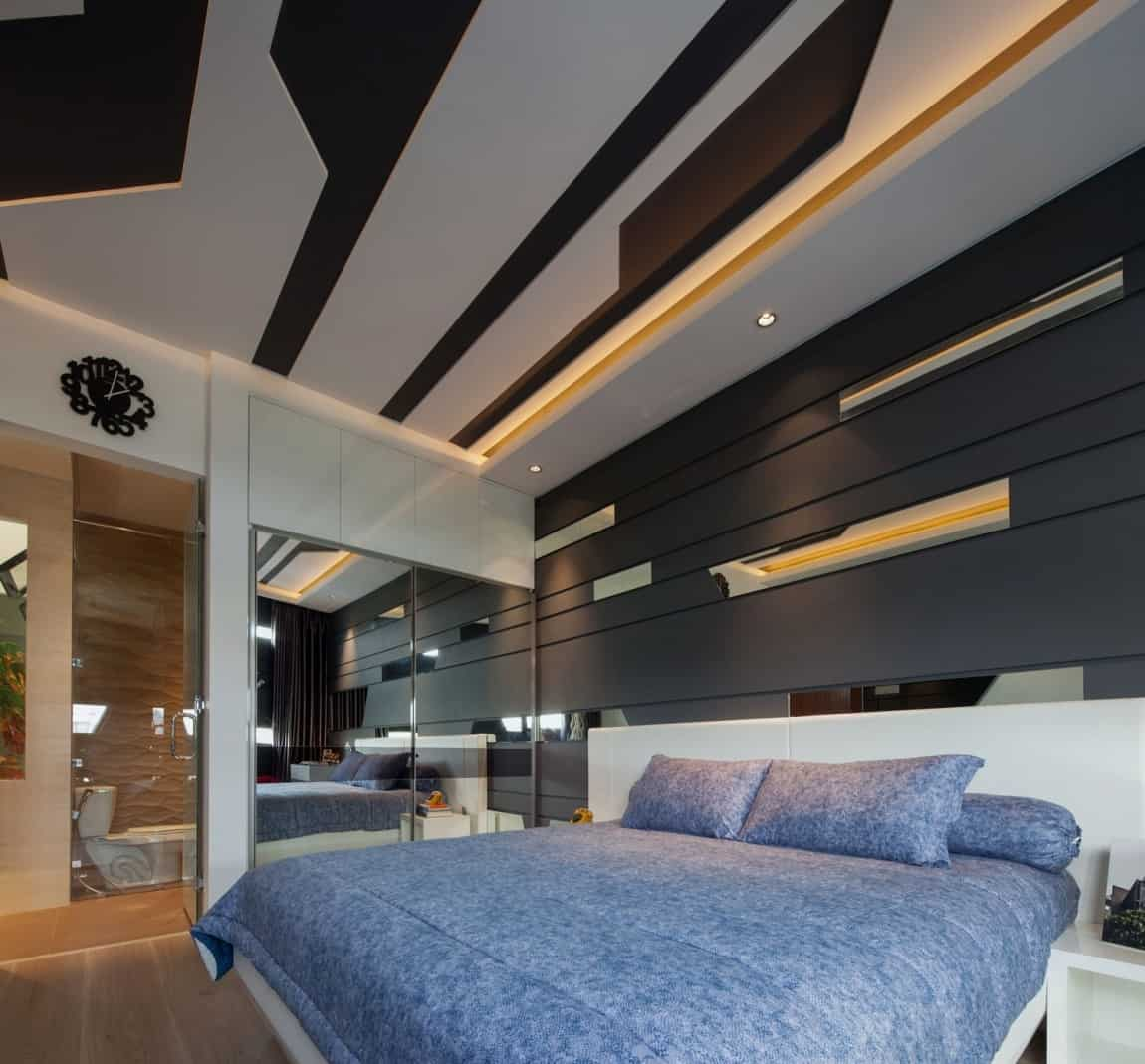 House with Creative Ceilings and Gl Floors on modern restaurant interior design, modern living room interior design, modern wood interior ceiling design, modern house roof designs, modern office interior design wall, modern house main door designs,