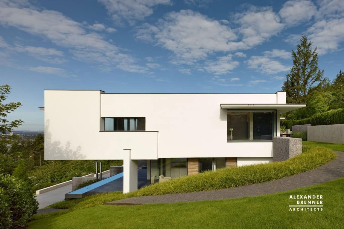 German contemporary house on top of the hill for Modern house website