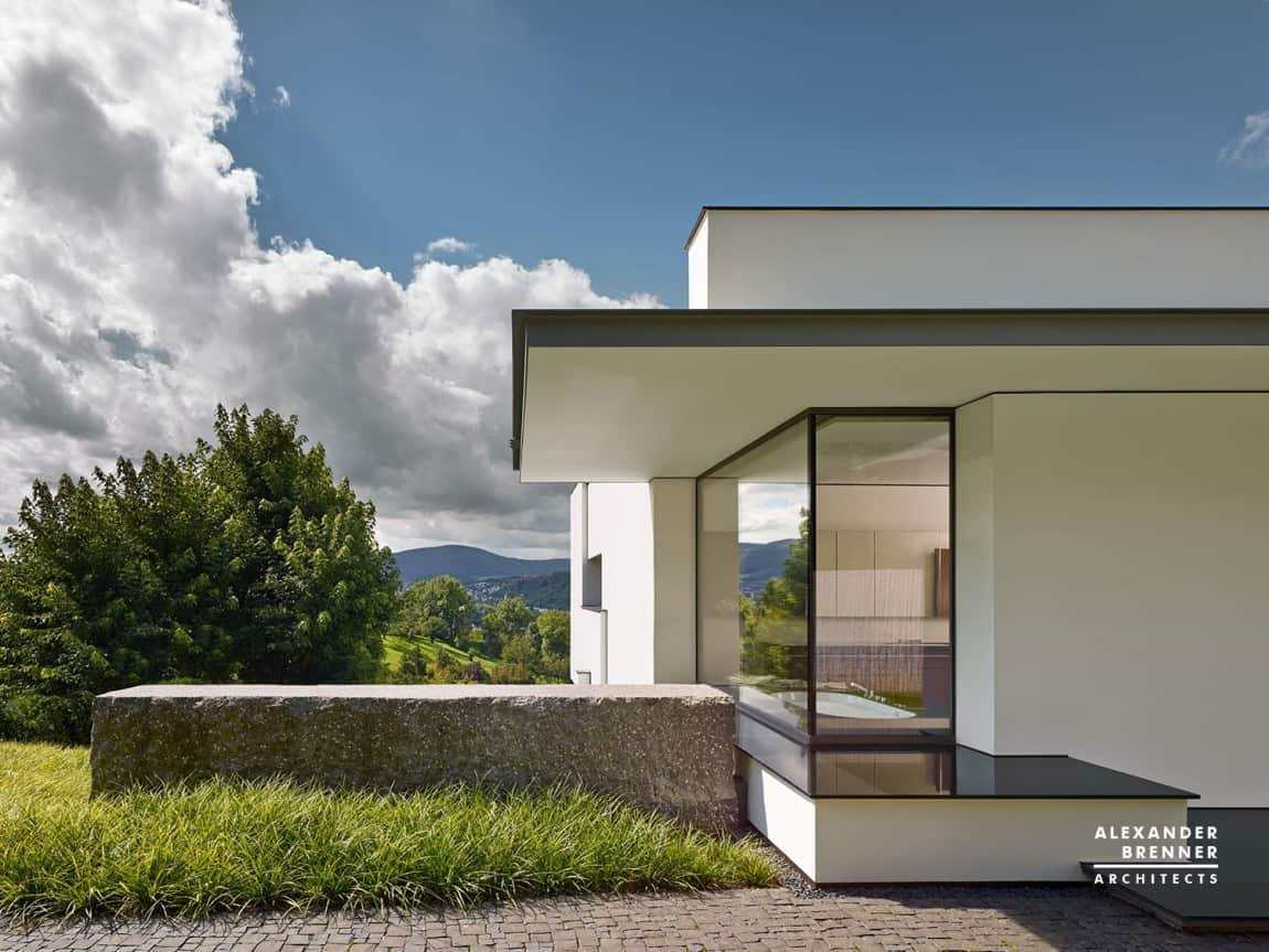 German contemporary house on top of the hill Contemporary housing