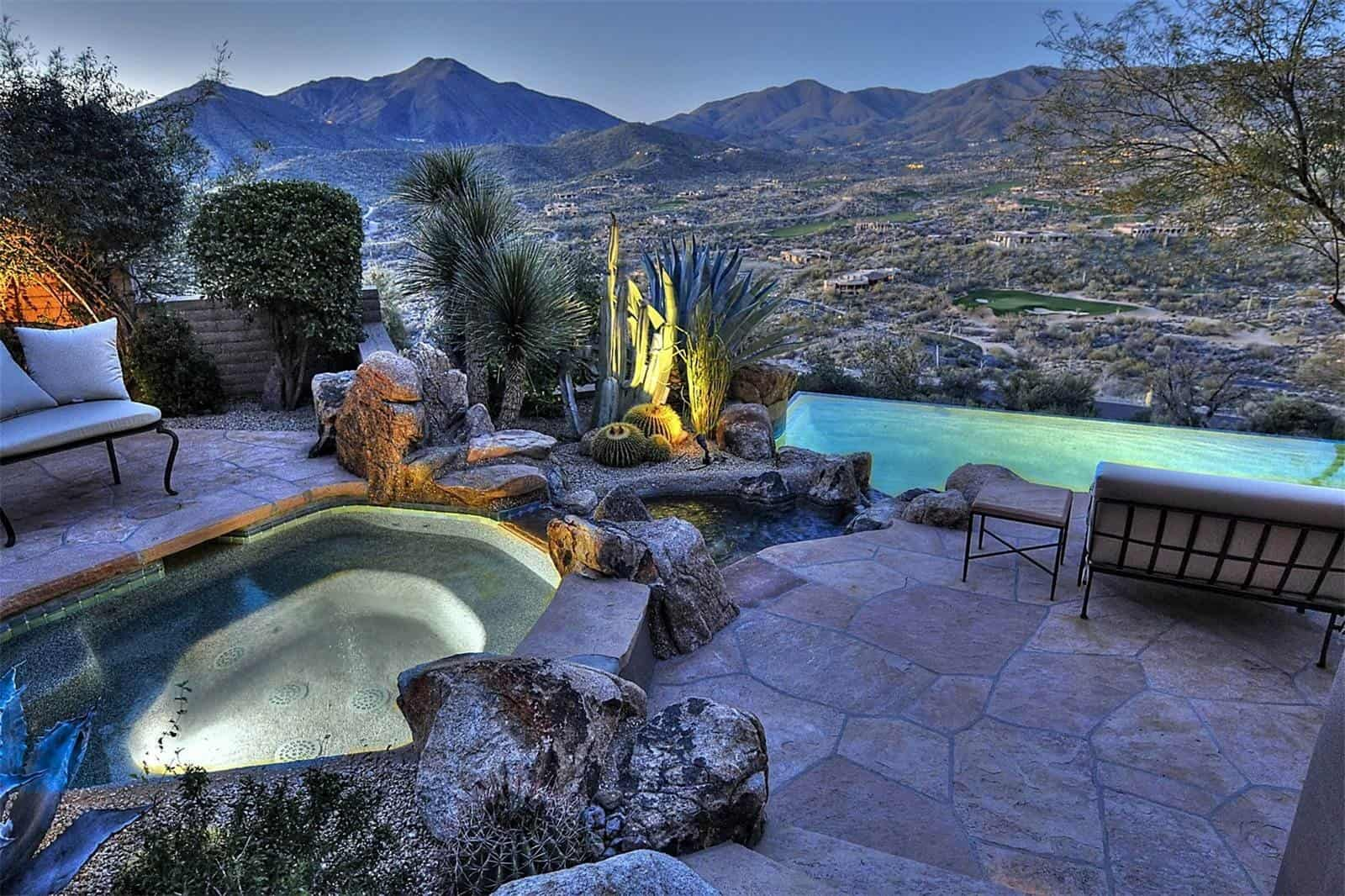 Arizona desert home combines waterscaping xeriscaping and for Arizona home designs