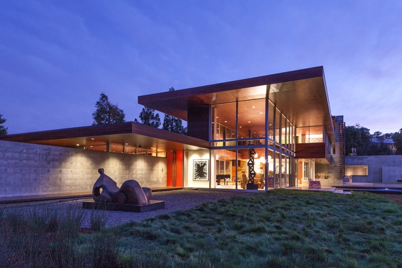 California Home Designed As Architectural Art