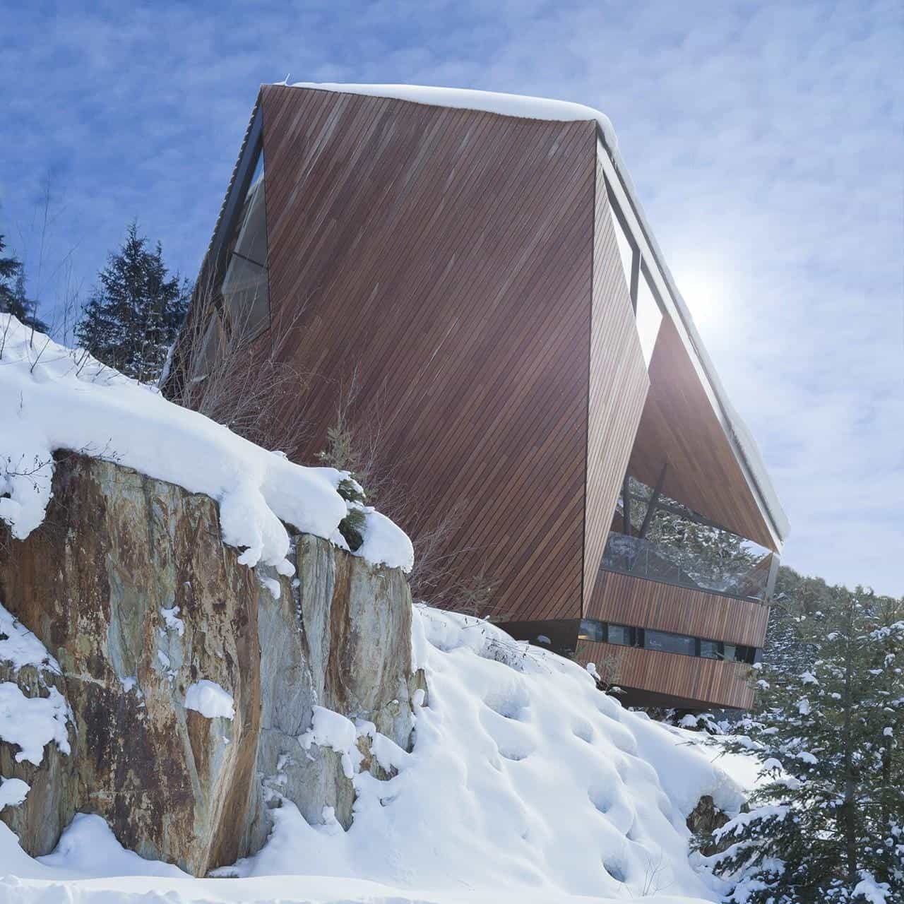Faceted Facade Accommodates Building Codes And Snow Loads