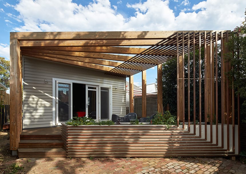 House Renovation Adds Unusual Deck And Shelving