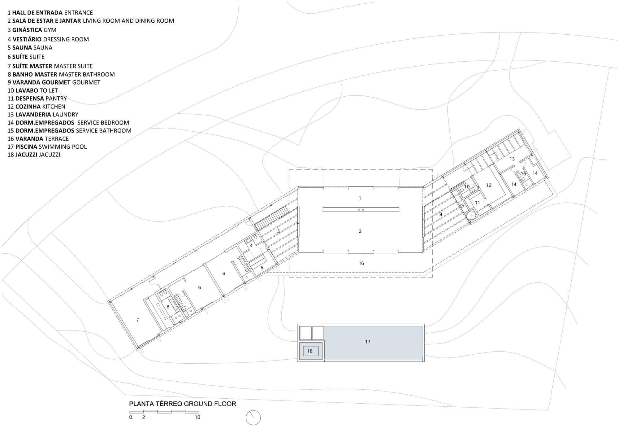 Z Shaped Home Features a Softly Inclined Roof on floating dock plans, vardo camper plans, new house design plans, biltmore estate elevation plans,